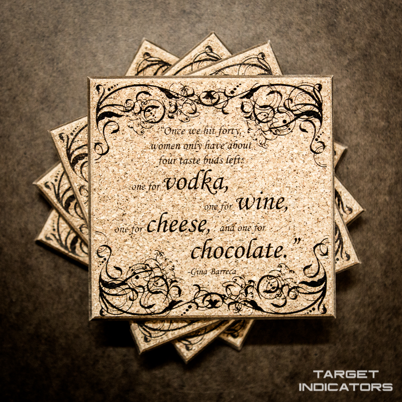Wine Quotes Coasters 1 Target Indicators