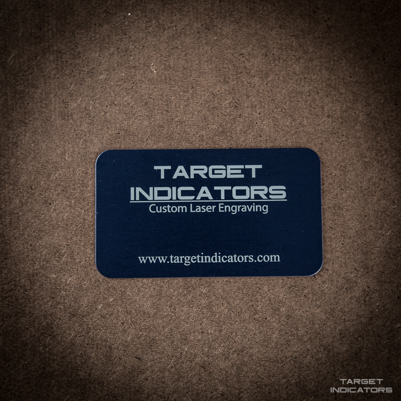 Custom Laser Engraved Aluminum Business Cards Tar