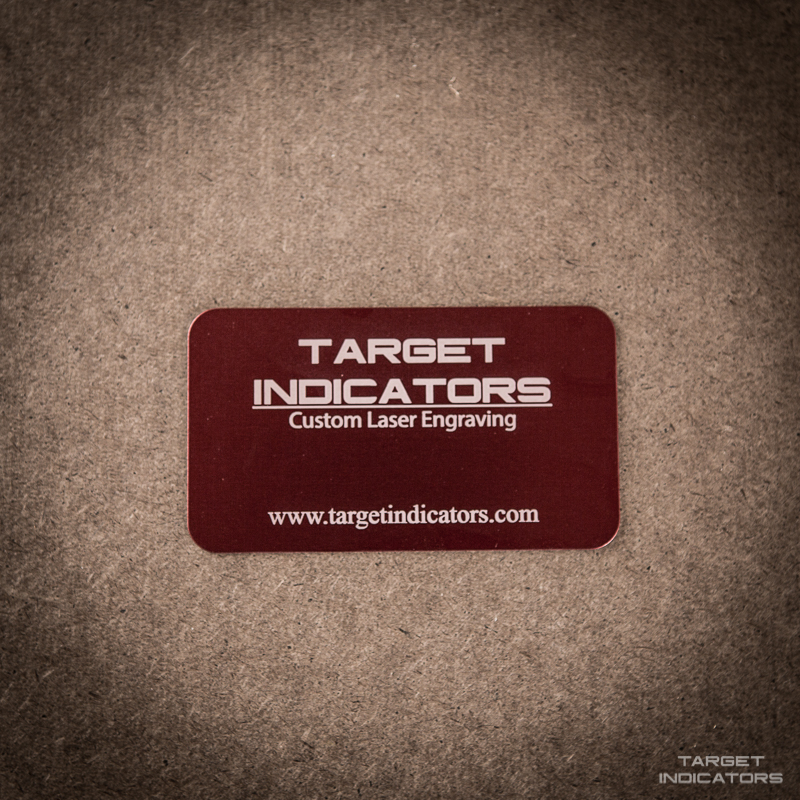 Custom Laser Engraved Aluminum Business Cards - Target Indicators