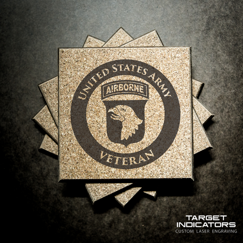 Us Army Ranger Tab And Scroll Coasters Target Indicators