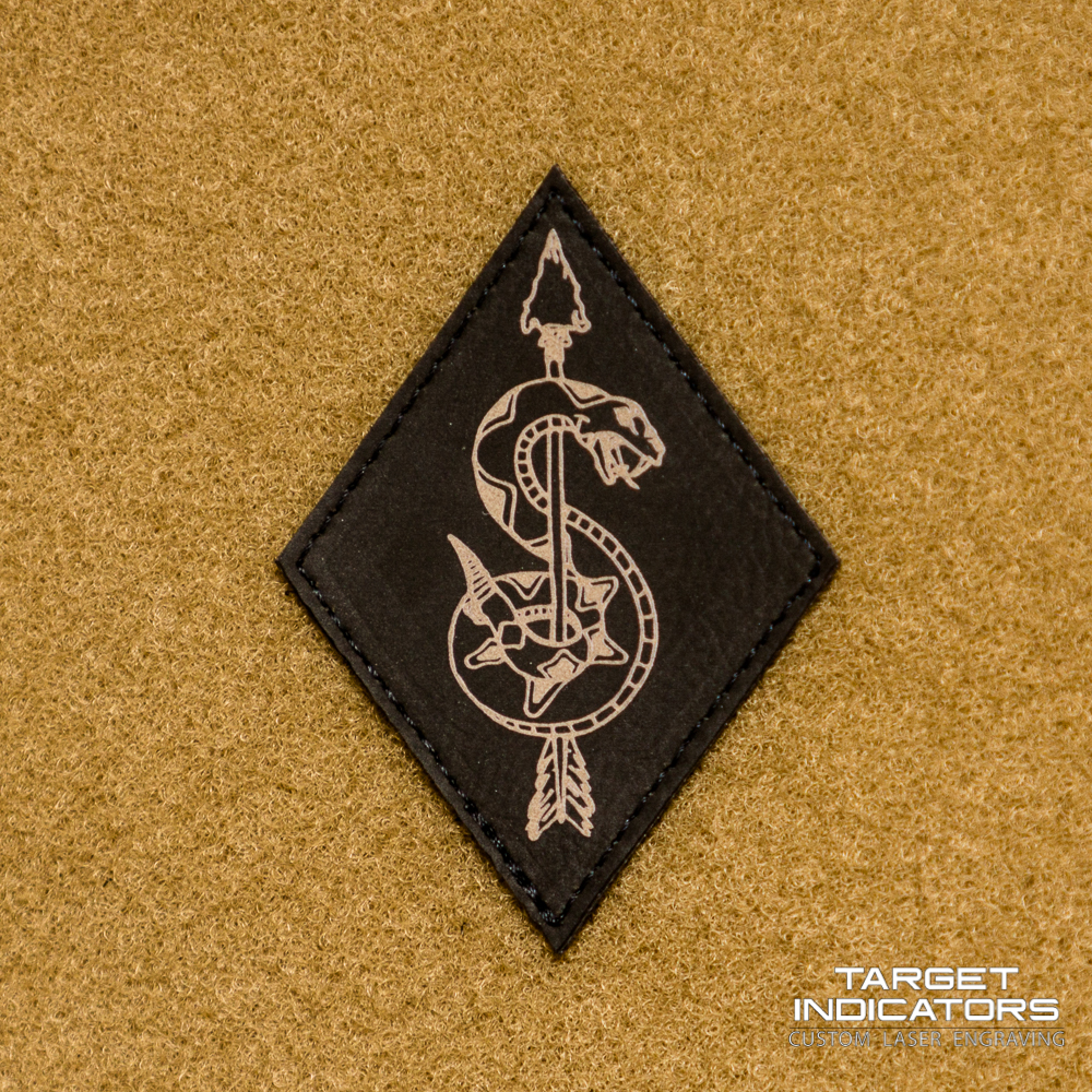 Army Sniper Symbol Laser Engraved Patch - Black